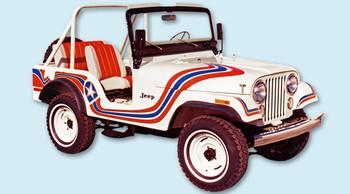 '73 Jeep CJ5 Super Jeep Decal Kit (Red & Blue)