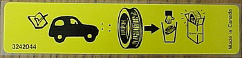 76-90 CJ/YJ Factory Air Cleaner Decal