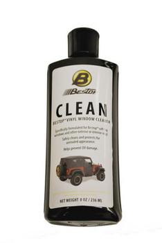 8oz bottle of Bestop Vinyl Window Cleaner
