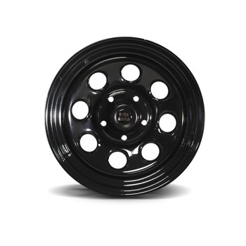 "16x8"" Black Steel Rock Wheel"