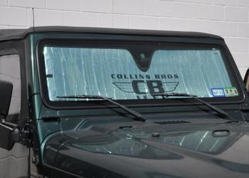 "'76-'06 CJ/YJ/TJ/LJ ""Collins Bros Jeep"" Logo Heat Shield"