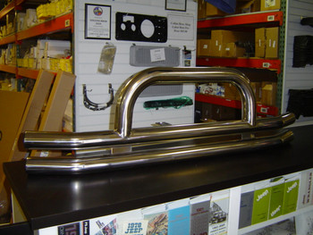 '76-'06 CJ/YJ/TJ Stainless Front Dual Tube Bumper