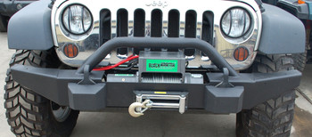 '07-Current JK BLKMTN Front Rock Bumper w/ Winch Mount (Black)