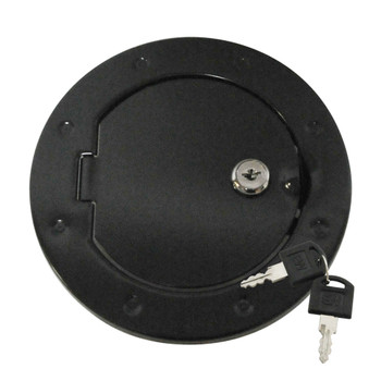 '07-Current JK Black Locking Fuel Door Cover