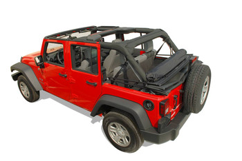 '07-Current JK Unlimited Clover Patch Window Rollup Storage Kit