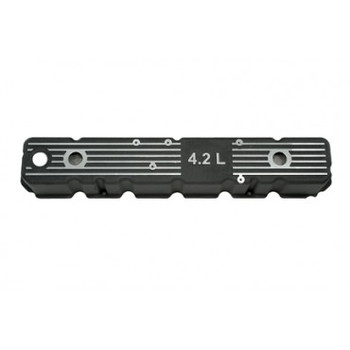 """'81-'87 """"4.2L"""" Logo Aluminum Valve Cover (Black)"""