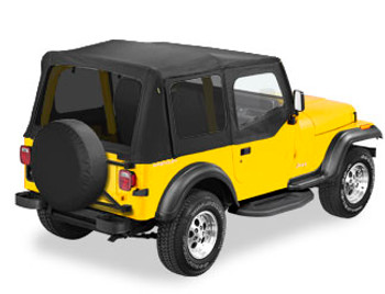 '88-'95 YJ Sailcloth Replace-a-Top w/upper door skins & tinted windows