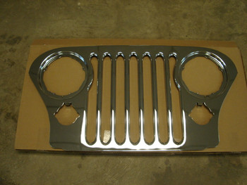 '76-'86 CJ Factory Chrome Grill Cover