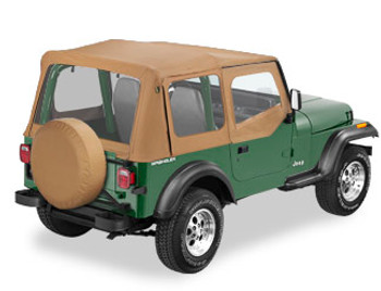 '88-'95 YJ Sailcloth Replace-a-Top w/upper door skins & clear windows