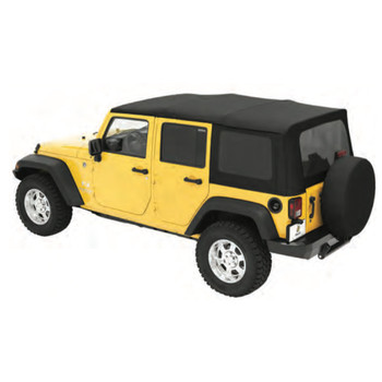 '07-'09 JK Unlimited Sailcloth Replace-a-Top w/tinted windows w/o upper door skins