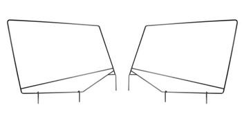 '87-'95 YJ Factory Upper Door Skin Frames (L & R)