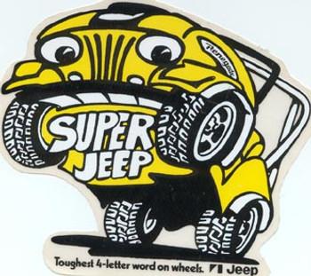 """Super Jeep"" Decal - 4.75""  X  4"""