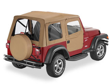 '97-'06 TJ Supertop w/2-pc Soft Doors & Clear Windows  (Spice)
