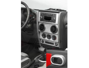 '07-'10 JK w/Manual Windows TrailMax Dash Overlay Kit (Brushed Aluminum)