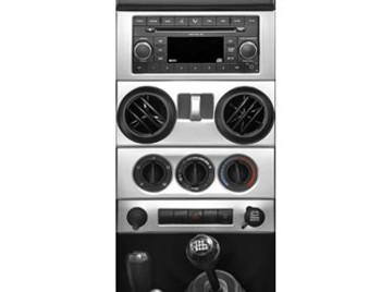 '07-'10 JK w/Power WindowsTrailMax Dash Overlay Kit (Brushed Aluminum)
