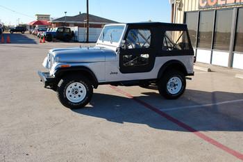 SOLD 1982 CJ-7 Silver Stock# 058655