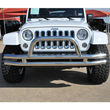 '07-Current JK Stainless Front Dual Tube Bumper