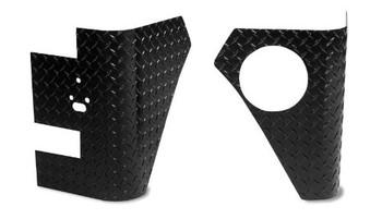 '04-'06 LJ Black Diamond Plate Corners w/Holes