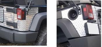 '07-Current JKU Diamond Plate Rear Corners