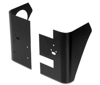 '97-'06 TJ Black Steel Corner Panels w/Holes