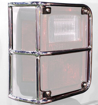 '07-Current JK Stainless Tail Light Euro Guards (Rampage)