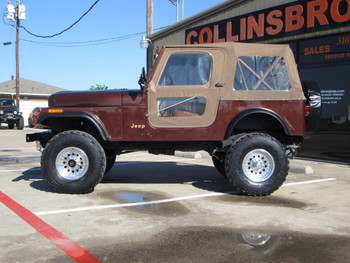 SOLD 1983 Jeep CJ-7 Chestnut Brown Metallic 4x4 Stock# 003469
