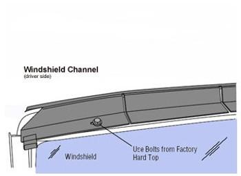 '72-'80 International Harvester Scout II Windshield Channel