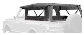 '67-'73 Jeepster Commando Specialty Tigertop (Black Crush)