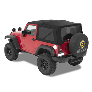 '07-'09 JK 2dr Acrylic Replace-a-Top, tinted windows, w/o upper door skins