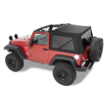 '10-Current JK 2dr Acrylic Replace-a-Top, tinted windows, w/o upper door skins
