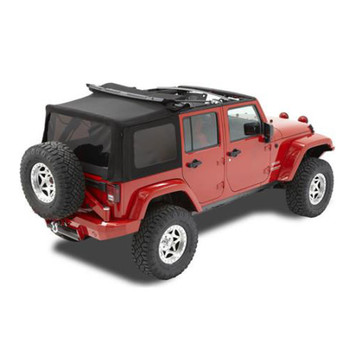 '10-Current JK Unlimited Acrylic Replace-a-Top, tinted windows, w/o upper door skins