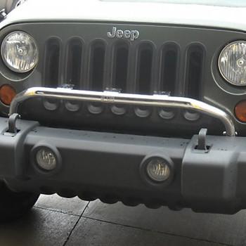 '07-Current JK OEM Bumper-Mounted Stainless Light Bar