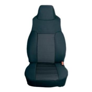 '97-'02 TJ/LJ Poly Cotton Front Seat Covers (Black)