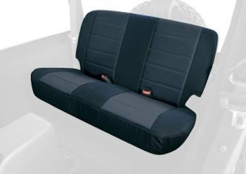 '97-'02 TJ/LJ Poly Cotton Rear Seat Cover (Black)