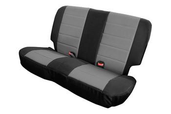 '97-'02 TJ/LJ Poly Cotton Rear Seat Cover (Gray & Black)