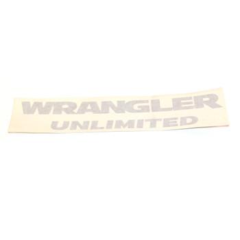"JK ""Wrangler Unlimited"" Decal (Silver)"