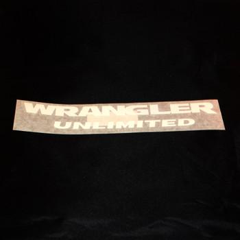 "JK ""Wrangler Unlimited"" Decal (White)"
