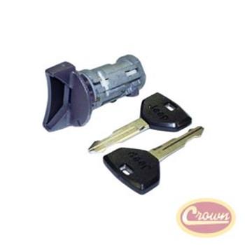 '91-'95 YJ Coded Ignition Key Cylinder w/Keys
