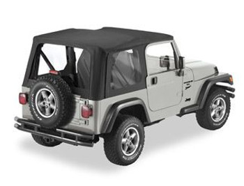 '97-'06 TJ Replacement Soft Top w/Clear Windows
