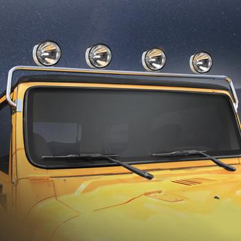 '76-'95 CJ/YJ Stainless Windshield Frame Light Bar