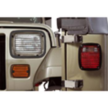 '87-'95 YJ 6pc Black Billet Stone Guard Light Kit