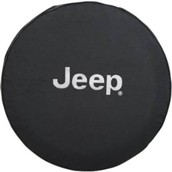 """Jeep"" Logo Tire Cover for 31""-32"" Tires (Black Denim)"
