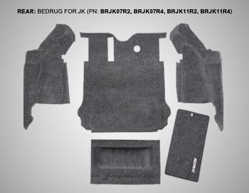 '07-'10 JKU Rear 5-pc BedRug Kit