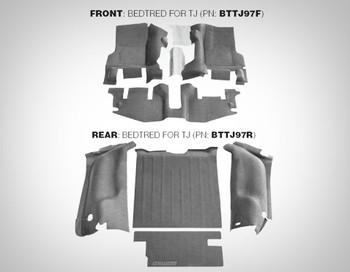 '97-'06 TJ Rear Rubber BedTred Liner Kit (Gray)