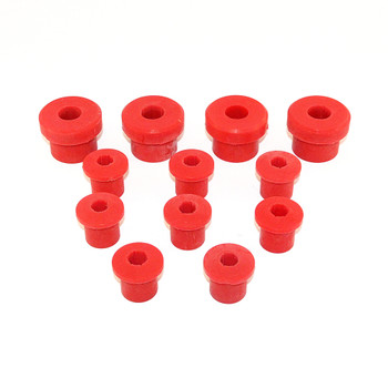 '76-'86 CJ Poly Front Spring Bushing Kit (Red)