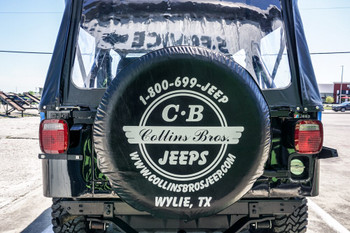"""Collins Bros 33"""" Tire Cover (Black) (CB TIRE COVER 33)"""