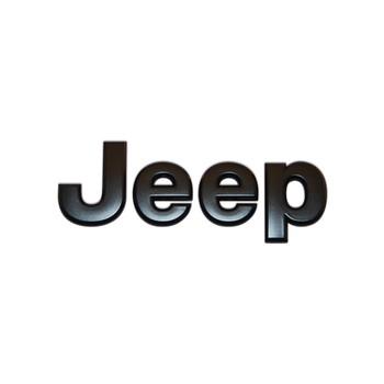 """'07-Current JK """"Jeep"""" Emblem (Black)"""