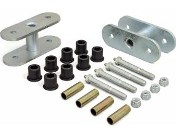 """'87-'95 YJ 1-1/4"""" Lift Front Greasable Super Shackle Kit"""