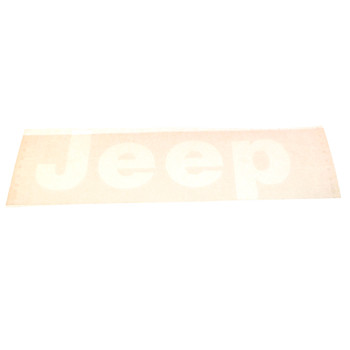 "'76-'86 CJ ""JEEP"" Tailgate Decal (White)"