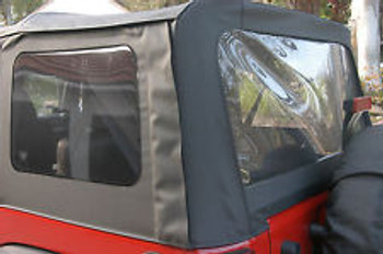 '11-Current JK Unlimited Side & Rear Clear Window Kit (Black Diamond)